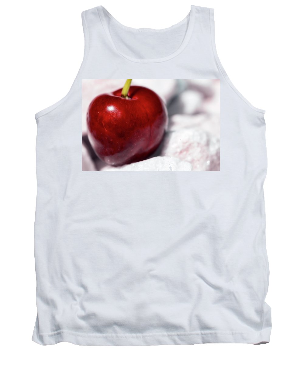 Cherry Tank Top featuring the photograph Red Cherry by Nannie Van der Wal