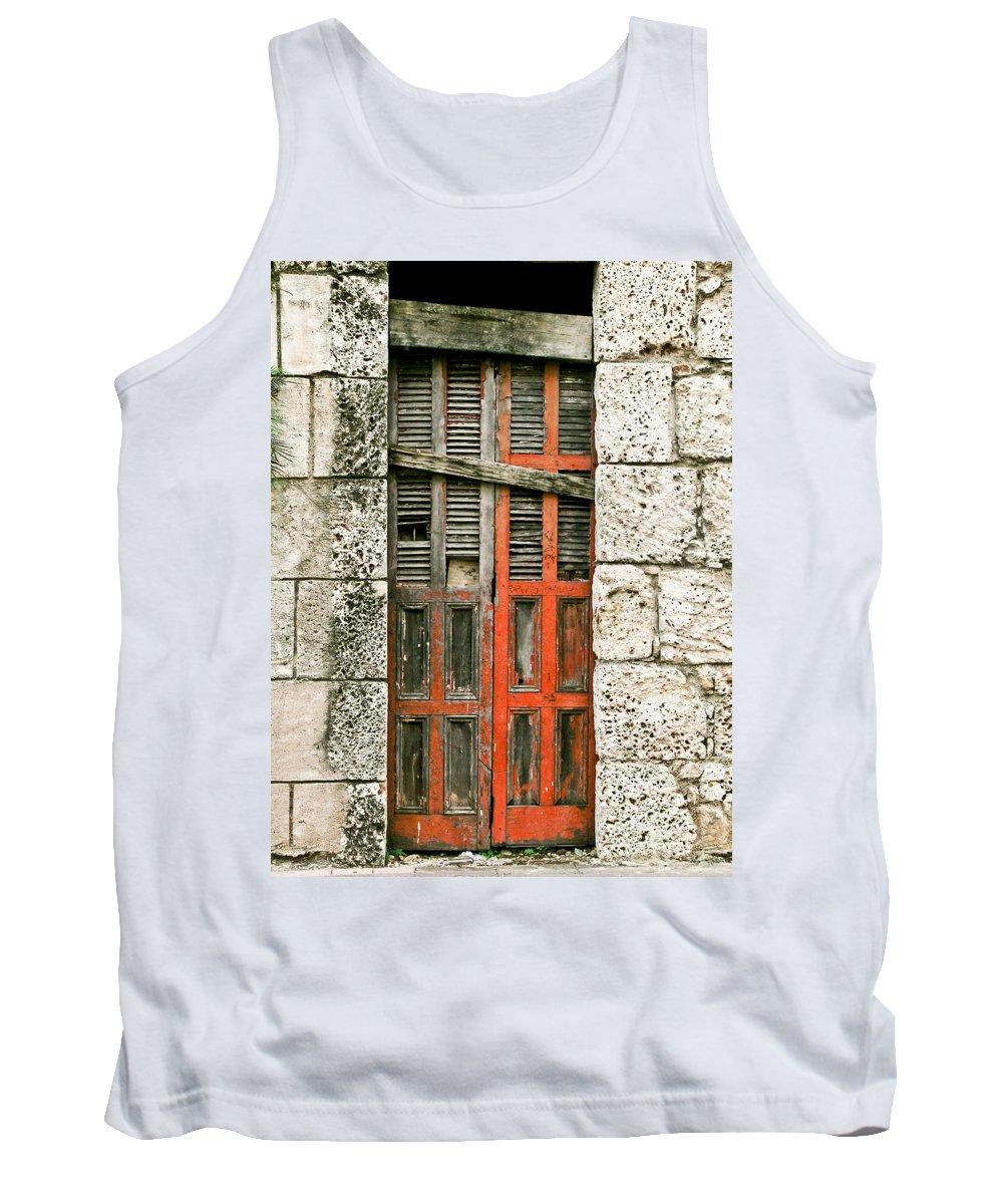 Door Tank Top featuring the photograph Red Door by Douglas Barnett