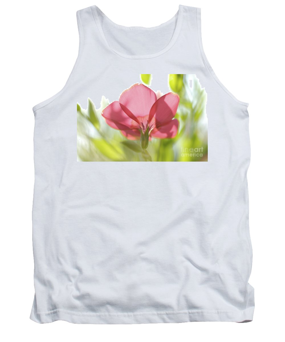 Red Tank Top featuring the photograph Red Garden Poppy by PhotoStock-Israel