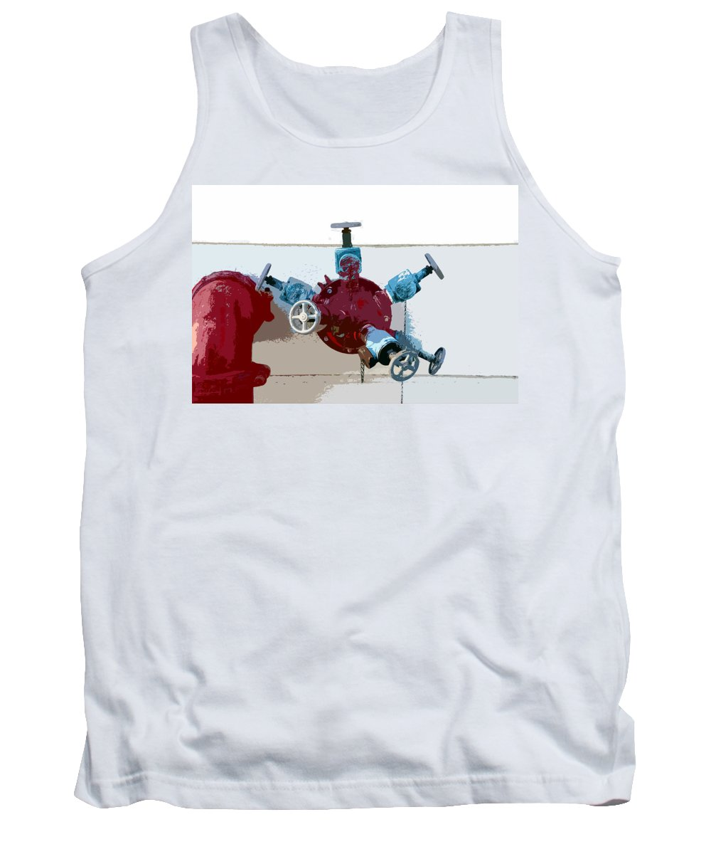 Art Tank Top featuring the photograph Red Pump by David Lee Thompson