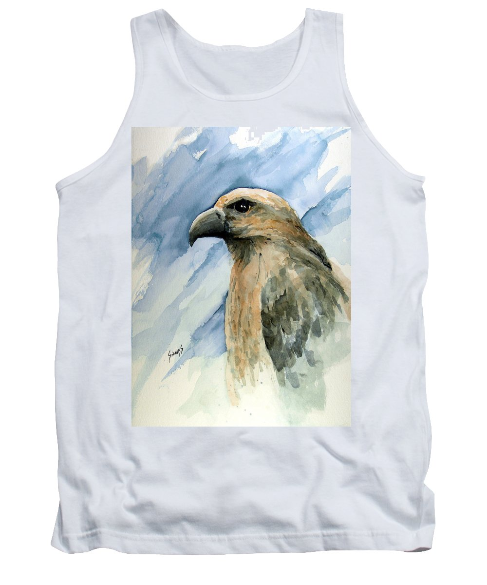 Bird Tank Top featuring the painting Red by Sam Sidders