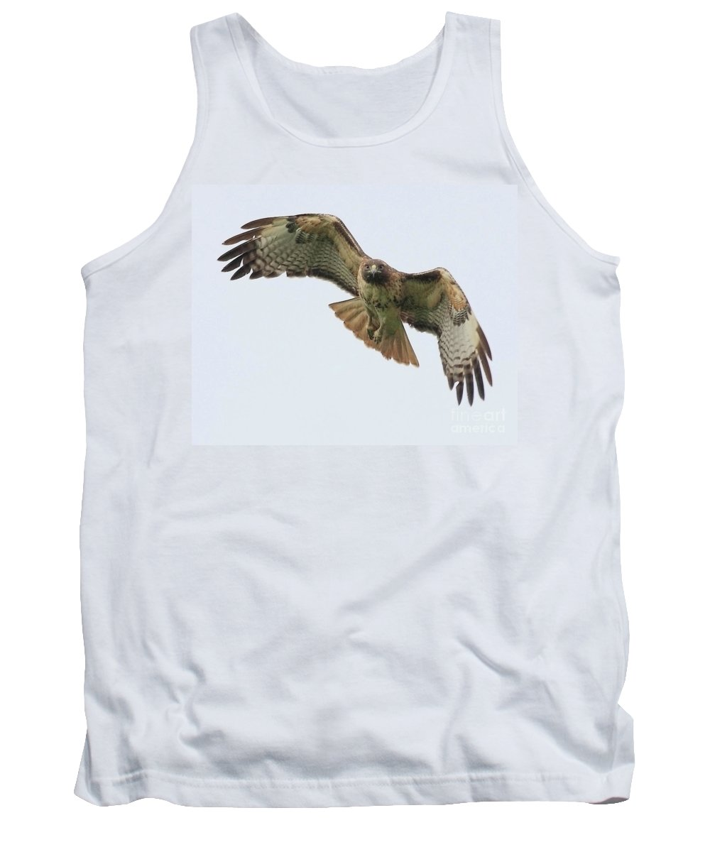 Red Tail Hawk Tank Top featuring the photograph Red Tailed Hawk Finds Its Prey by Wingsdomain Art and Photography