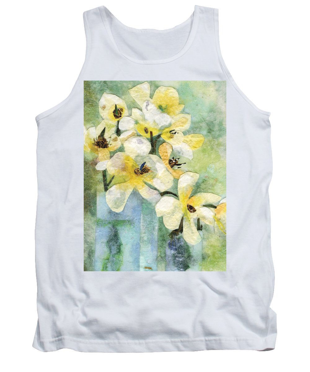 Limited Edition Prints Tank Top featuring the painting Reflection by Nira Schwartz