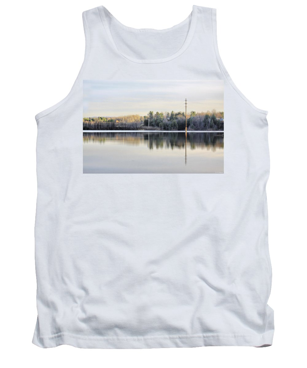 Water Tank Top featuring the photograph Reflections Across The Water by Deborah Benoit