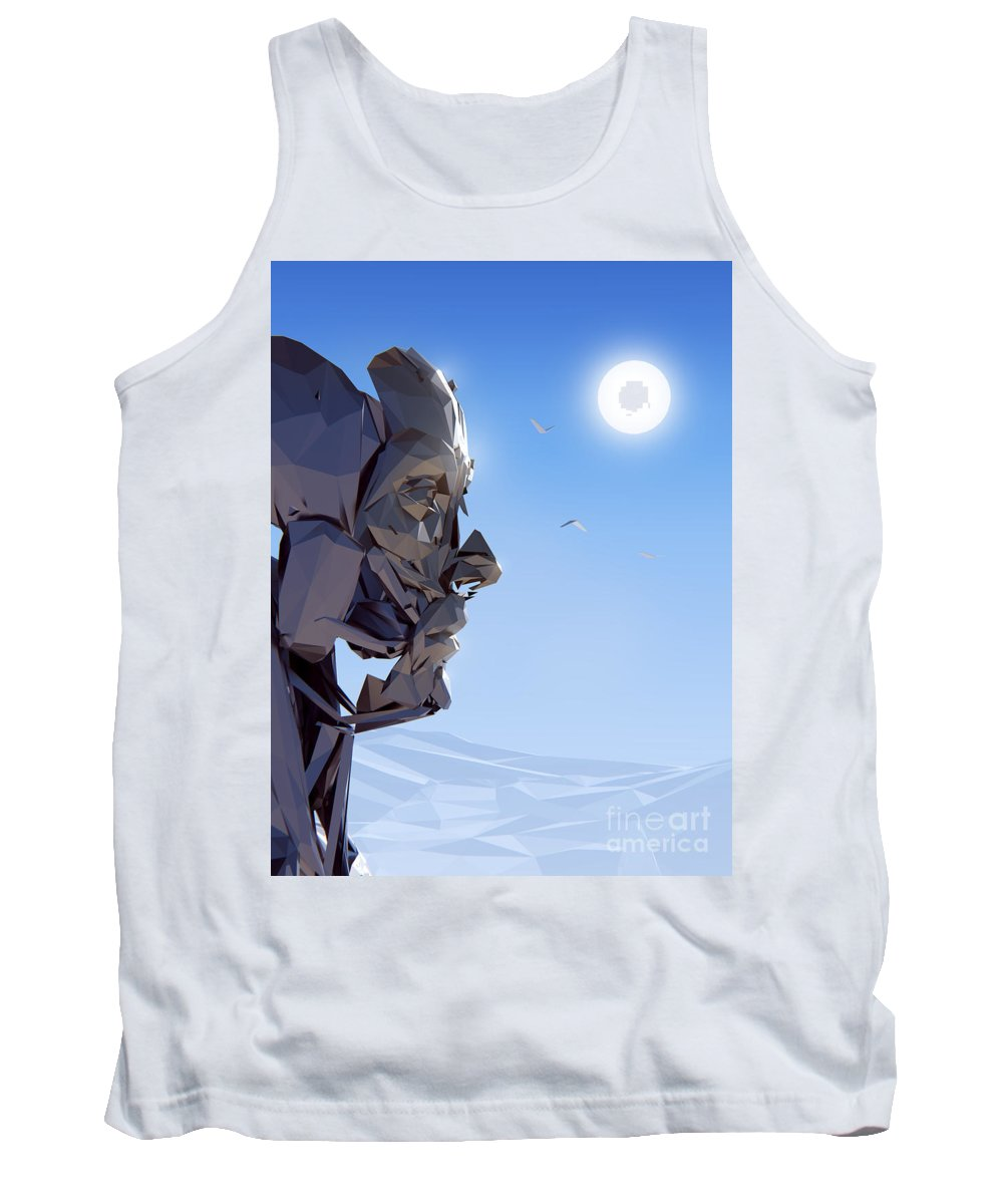 Starwars Tank Top featuring the painting Remember Me by Pixel Chimp