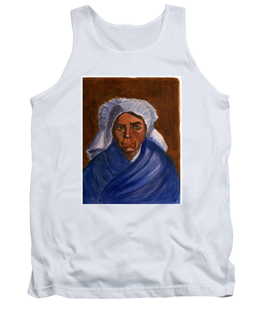 Peasant Woman By Van Gogh Reproduced Tank Top featuring the painting Reproduction Of Van Gogh by Asha Sudhaker Shenoy