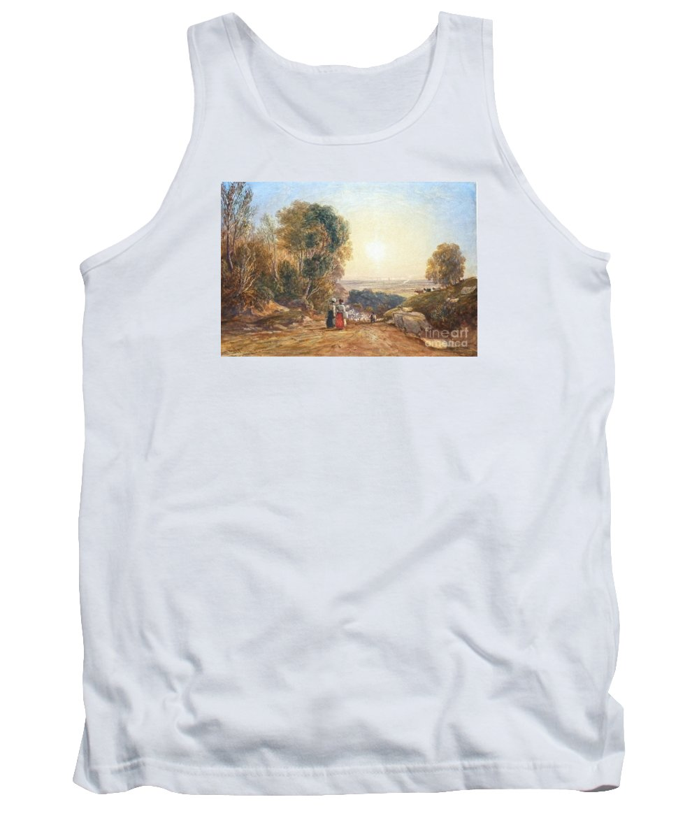David Cox Snr - B 1773- D 1859 Returning Home From Market - 1829 Tank Top featuring the painting Returning Home From Market by Celestial Images
