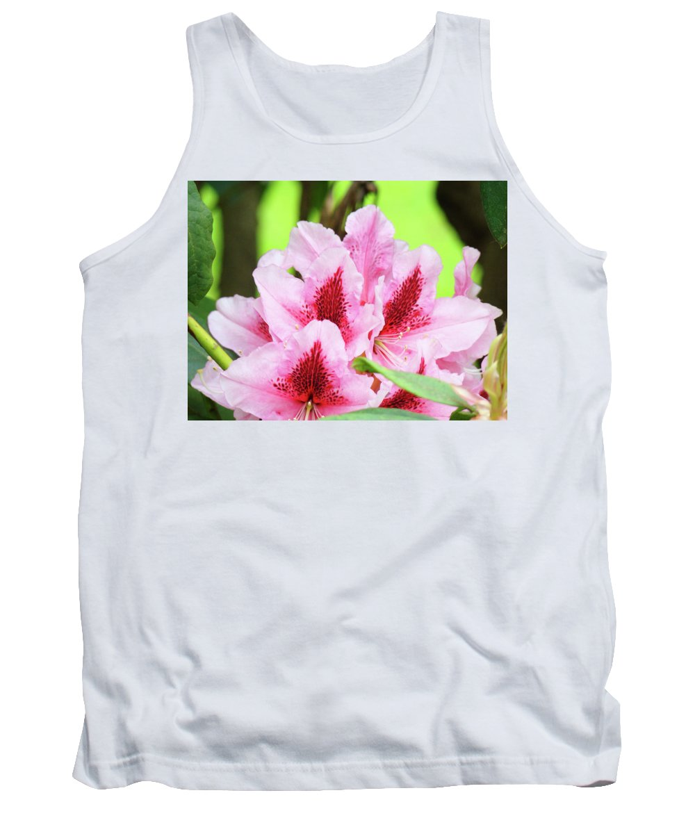 Rhodie Tank Top featuring the photograph Rhododendron Floral Art Prints Rhodies Flowers Canvas Baslee Troutman by Baslee Troutman