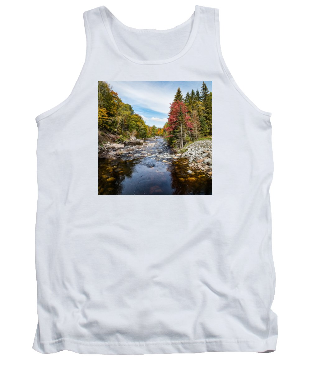 Fall Tank Top featuring the photograph River In Fall by Sandy Roe