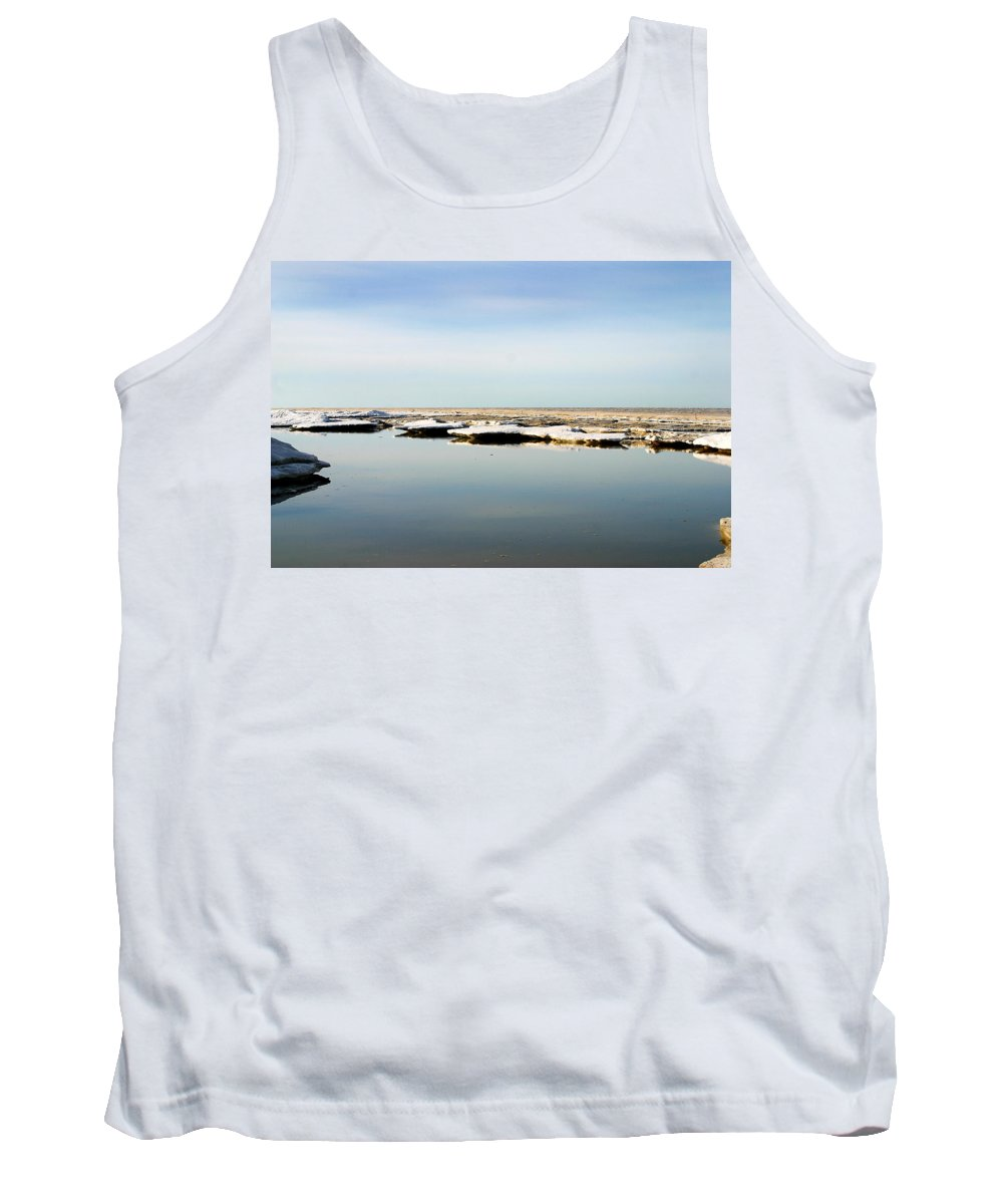 Ocean Tank Top featuring the photograph River To The Arctic Ocean by Anthony Jones
