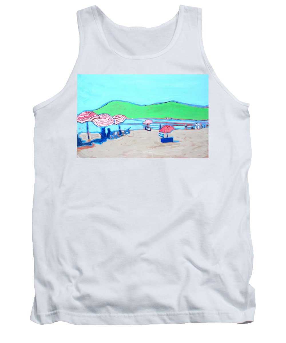 Seashore Tank Top featuring the painting Riviera by Kurt Hausmann