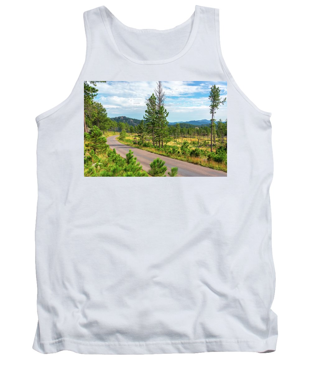 Custer State Park Tank Top featuring the photograph Road Through Custer State Park by Jess Kraft