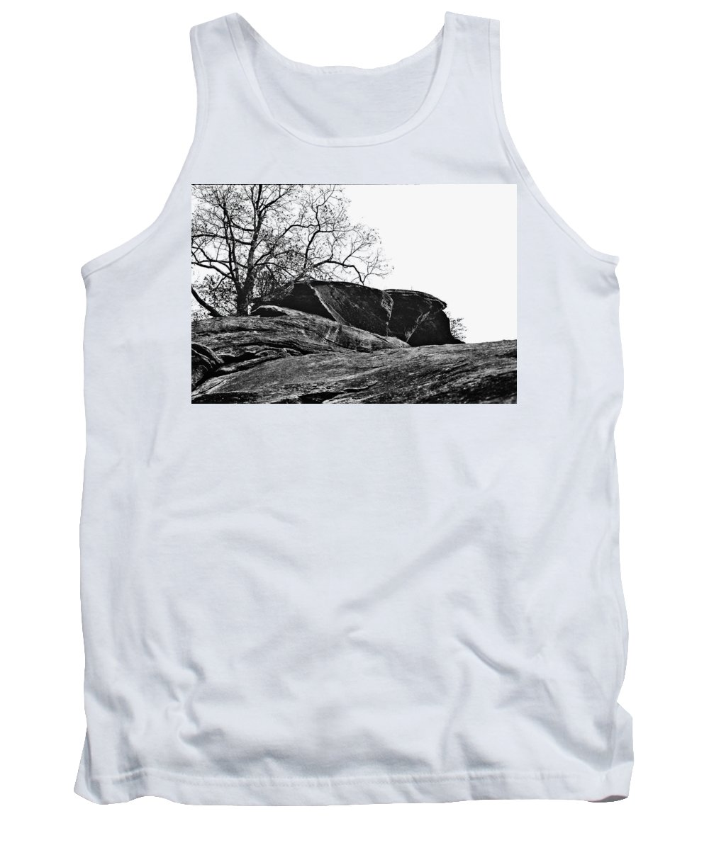 Landscape Tank Top featuring the photograph Rock Wave by Steve Karol