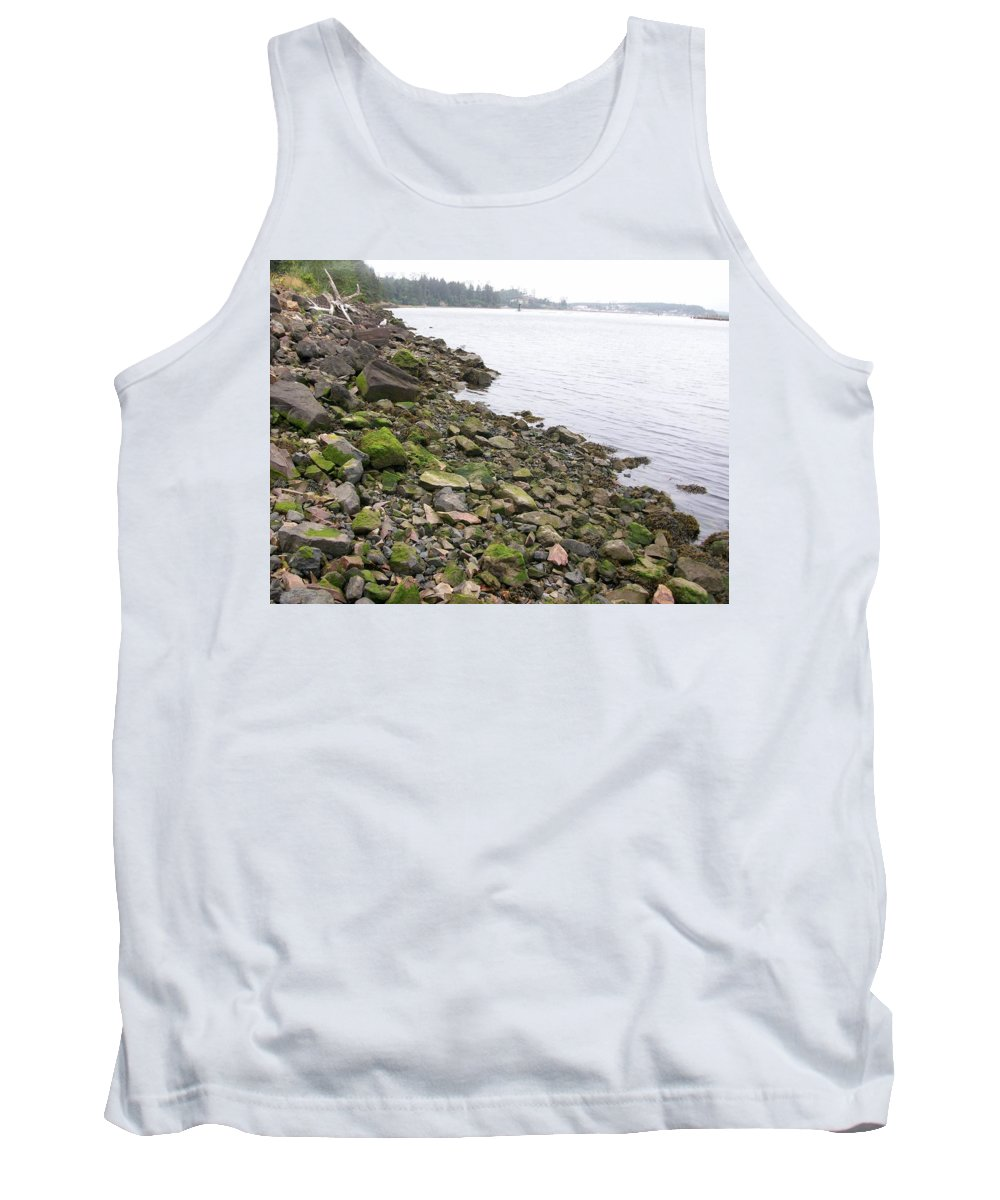 Rocky Tank Top featuring the photograph Rocky Beach by Rebecca Sturm