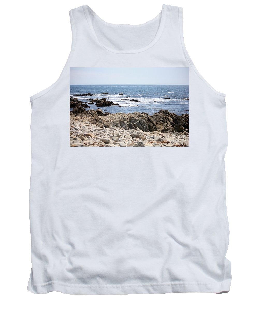 California Tank Top featuring the photograph Rocky California Coastline by Carol Groenen