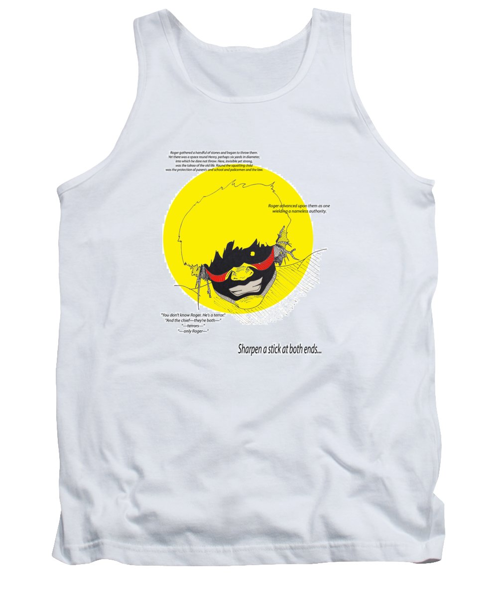 Lord Of The Flies Tank Top featuring the digital art Roger by Win Homer
