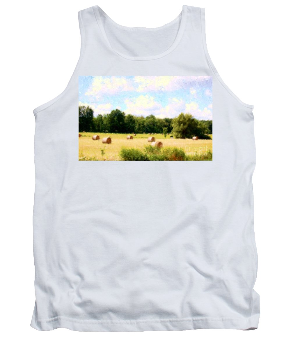 Nature Tank Top featuring the photograph Rolling The Hay by David Lane