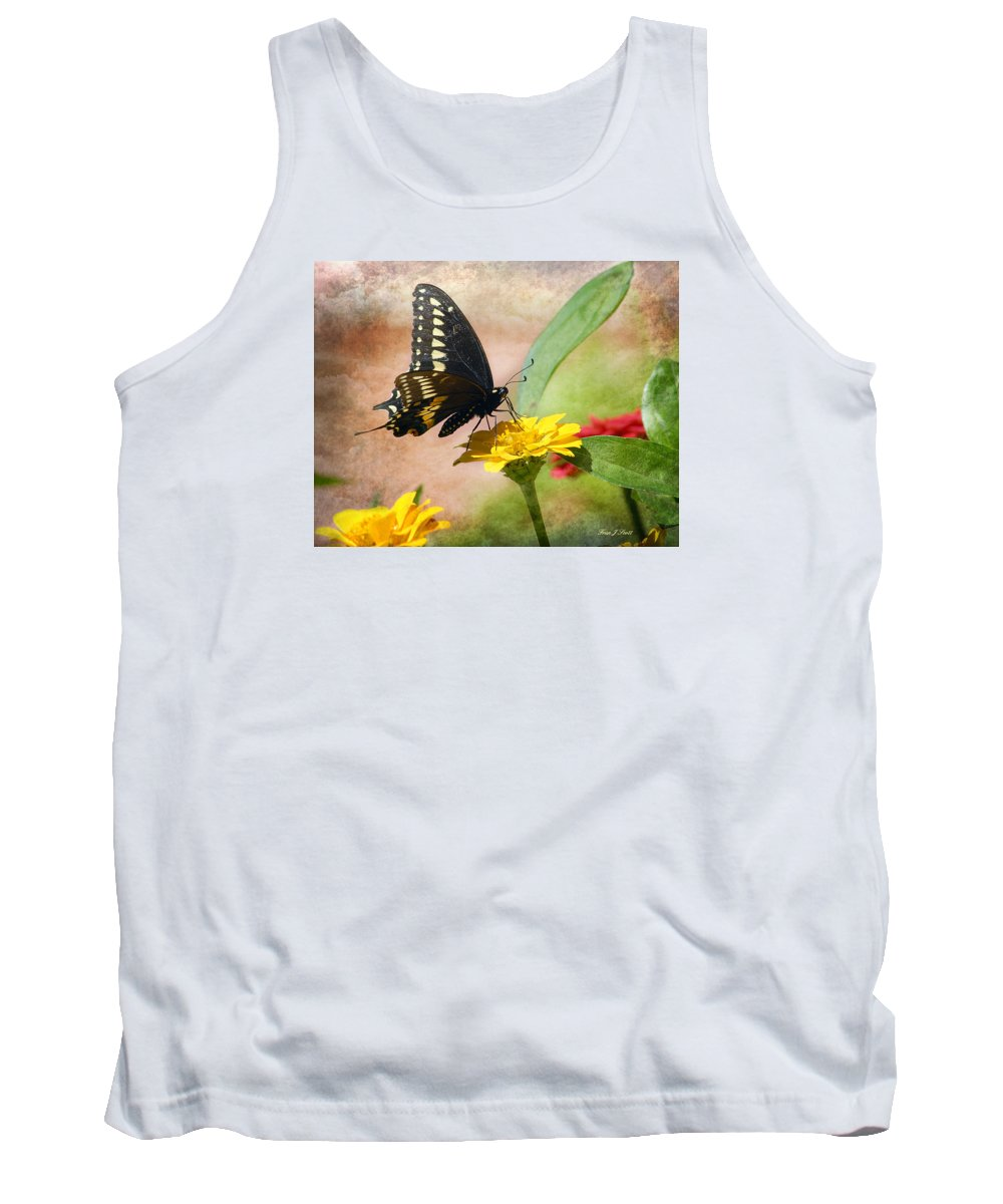 Butterfly Tank Top featuring the photograph Romanced by Fran J Scott
