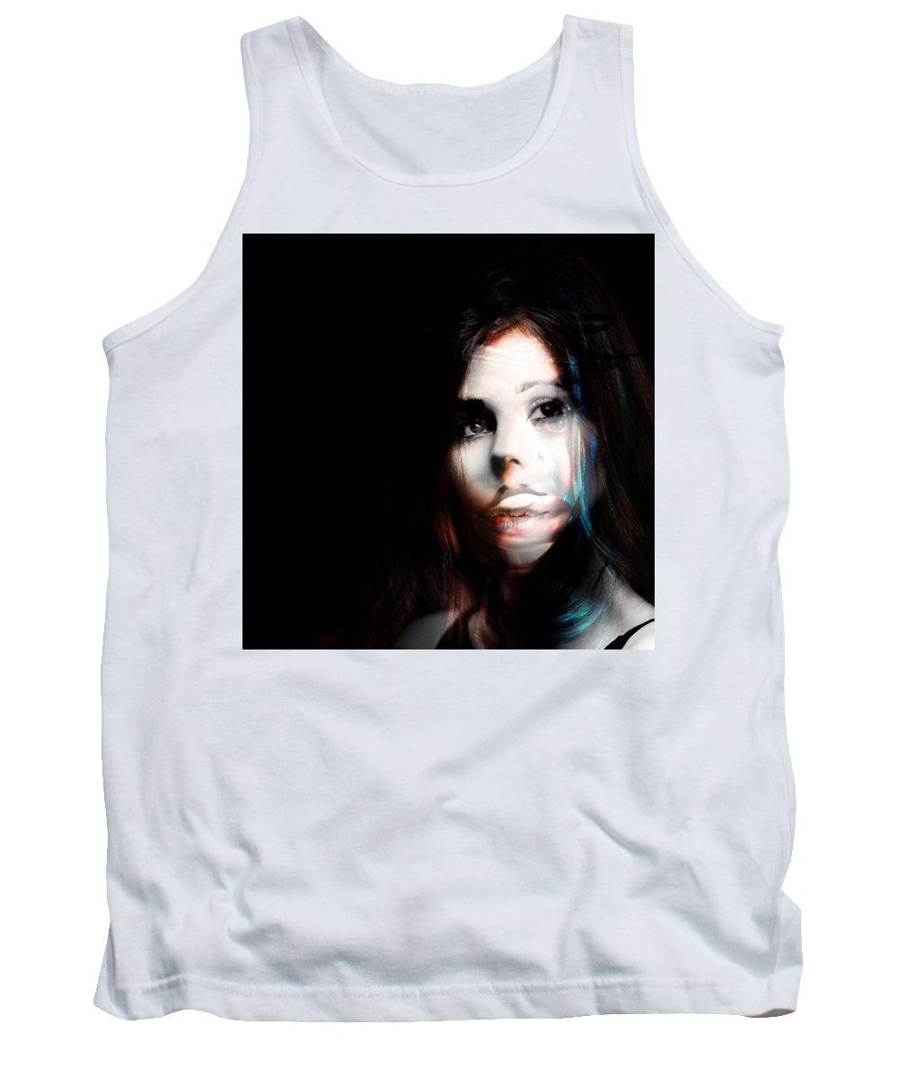 Tank Top featuring the painting Rosaly, I Am Always Proud Of You by Maciej Mackiewicz