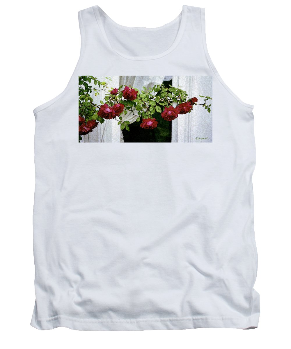 Maine Tank Top featuring the photograph Rose Window by Ed A Gage