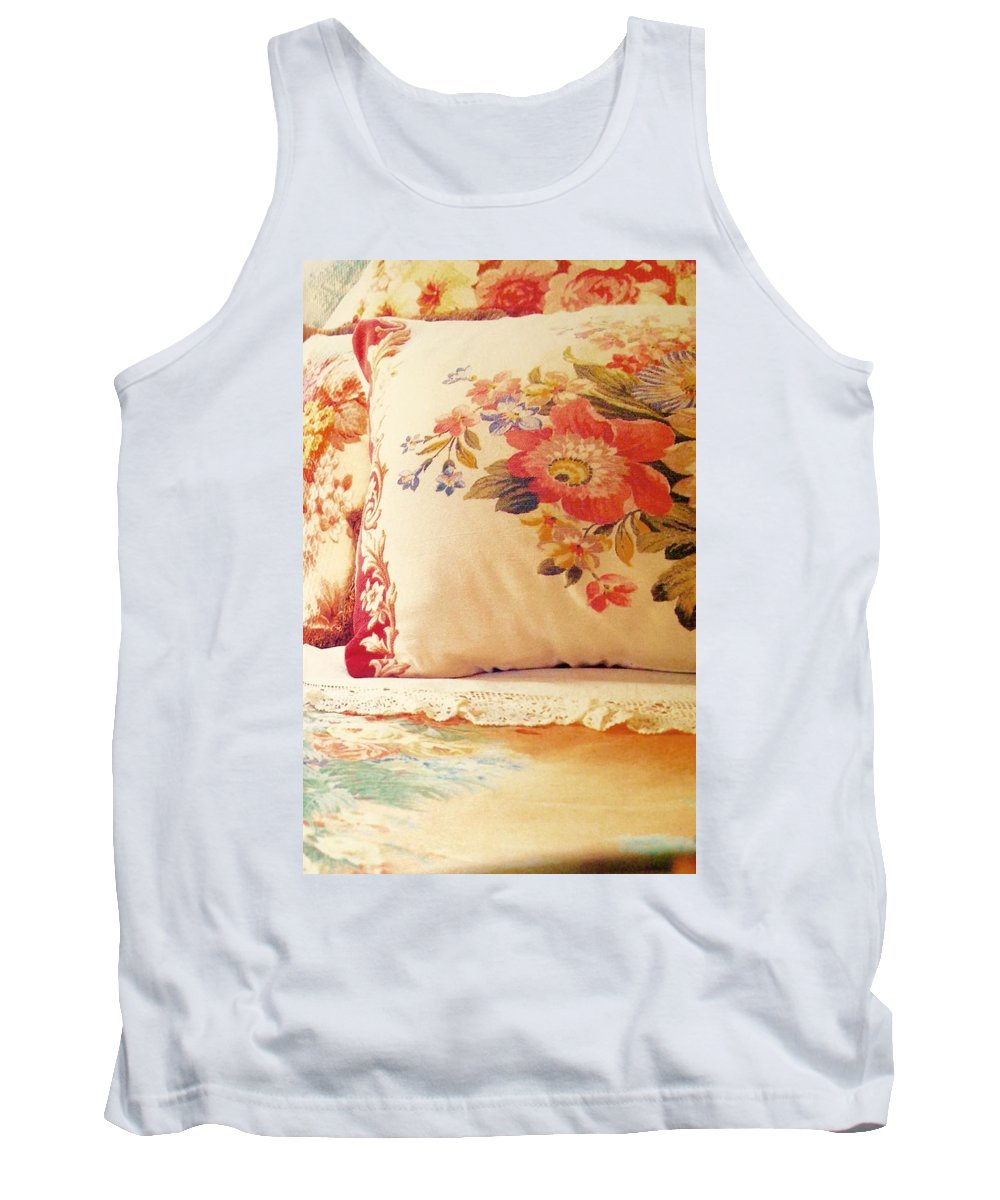Tank Top featuring the photograph Royal English Chintz by Jacqueline Manos