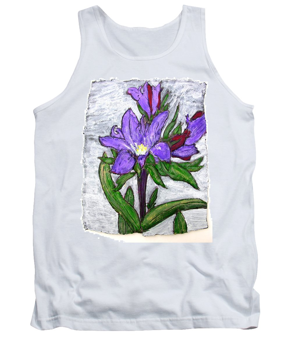 Flower Tank Top featuring the painting Royalty by Wayne Potrafka