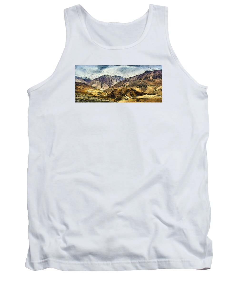 Road Tank Top featuring the photograph Rugged Mountains Of North India by Ashish Agarwal