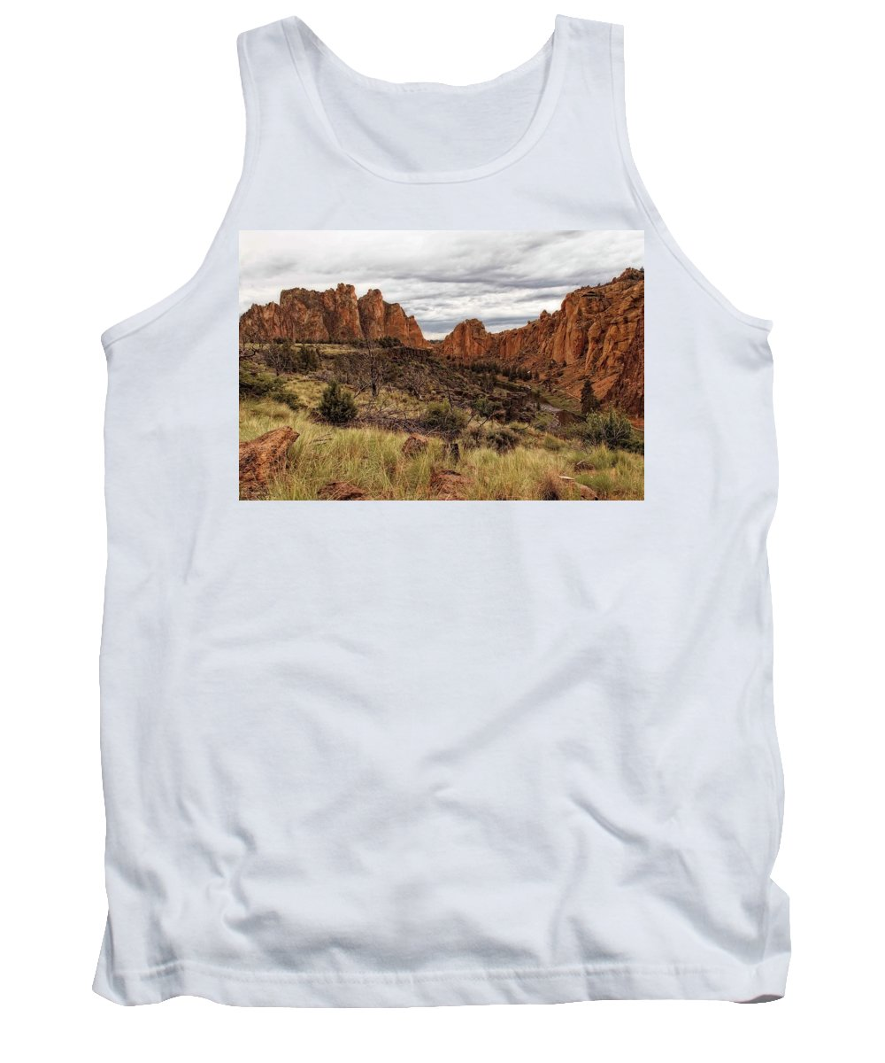 Smith Rock Tank Top featuring the photograph Rugged Wonder by Hany J