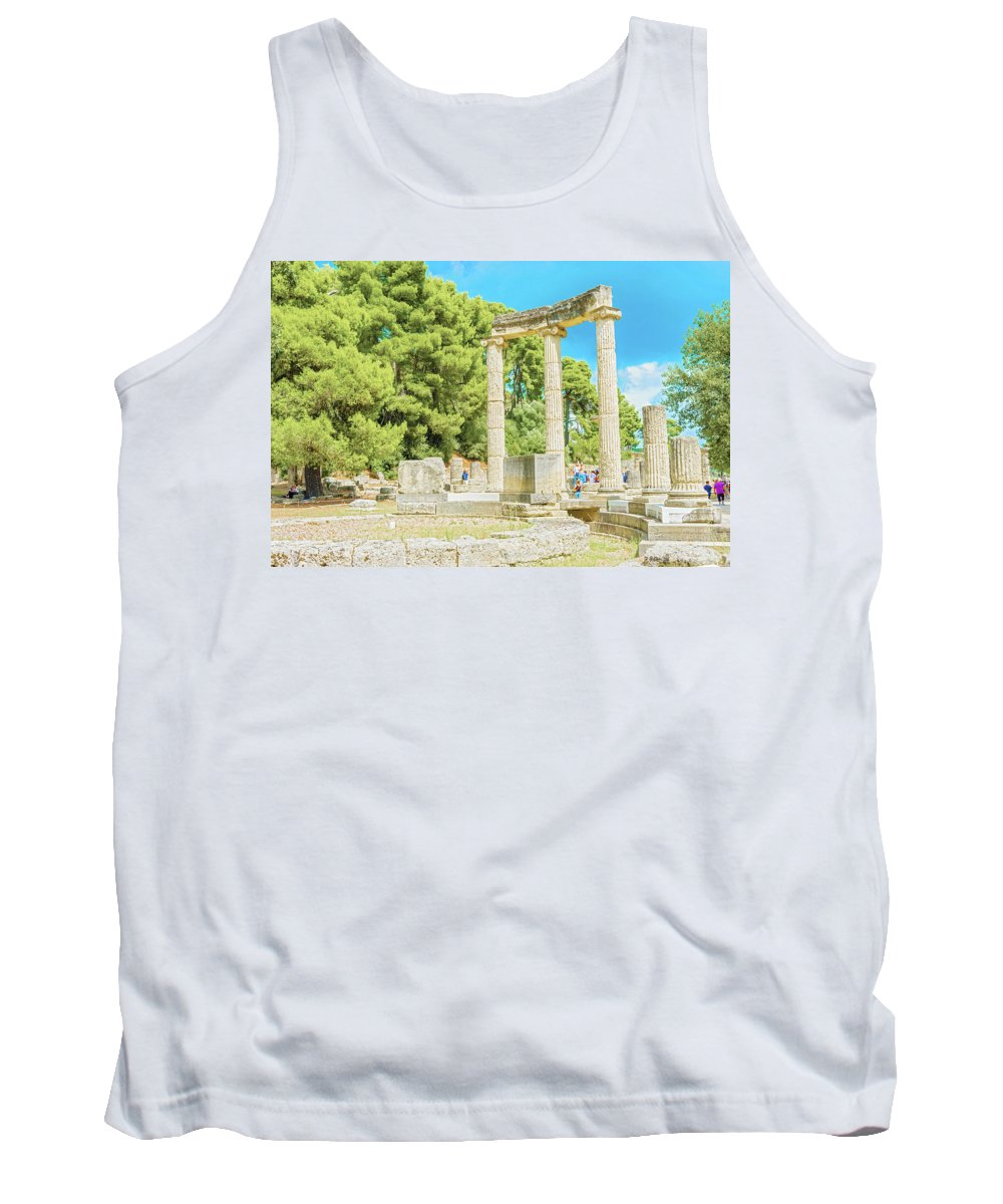 Greece Tank Top featuring the photograph Ruin Of Philipp's Temple In Olympia, Greece by Marek Poplawski