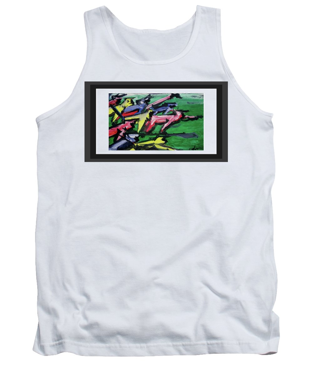 Abstract On Paper Tank Top featuring the painting run by ROhit Ramanuj