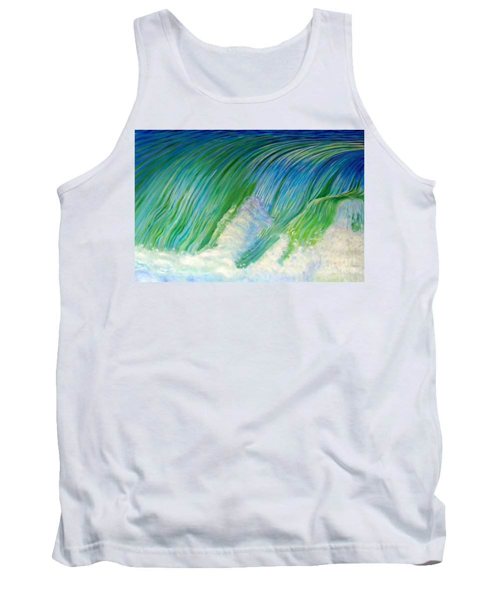 Sea Tank Top featuring the painting Run To The Sea by Brian Commerford