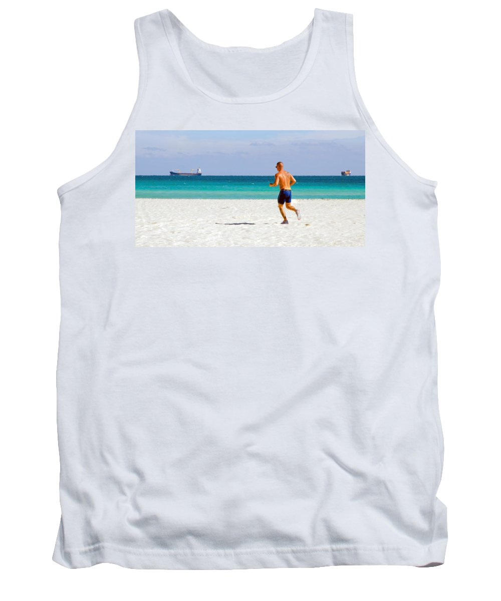 Ocean Tank Top featuring the photograph Runs Between Ships by Keith Armstrong
