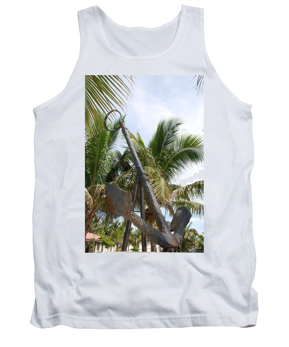 Nautical Tank Top featuring the photograph Rusted Anchor by Rob Hans
