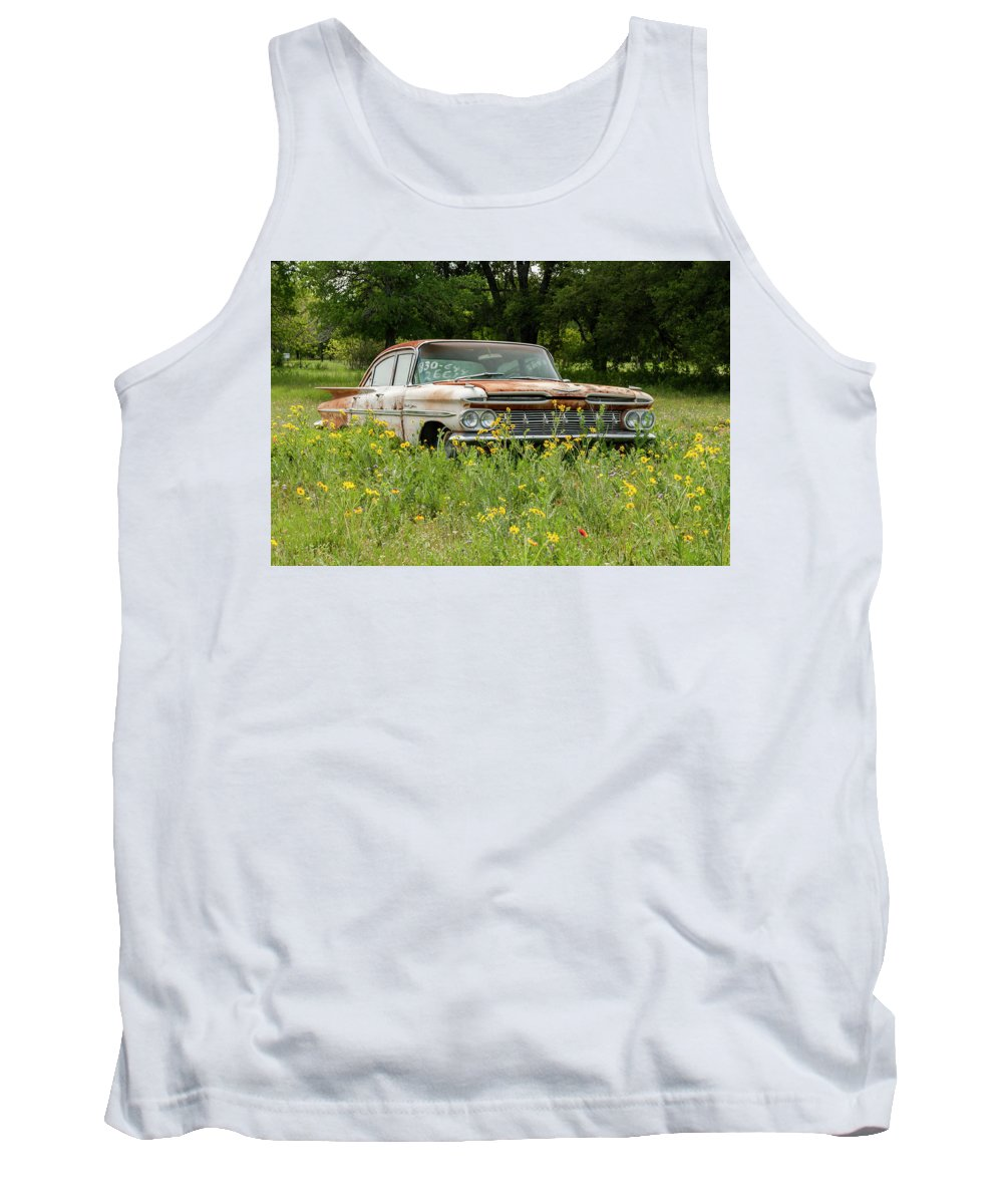 Texas Tank Top featuring the photograph Rusty But Still Standing In Texas by Usha Peddamatham