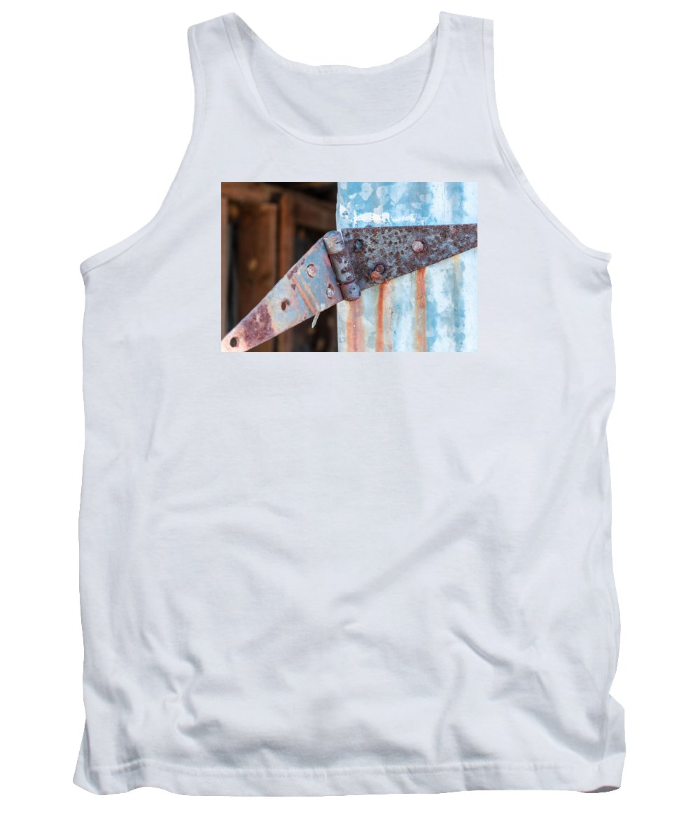 Hinge Tank Top featuring the photograph Rusty Hinge by Carlton Cates