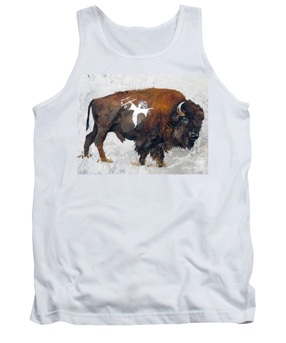 Southwest Art Tank Top featuring the painting Sacred Gift by J W Baker