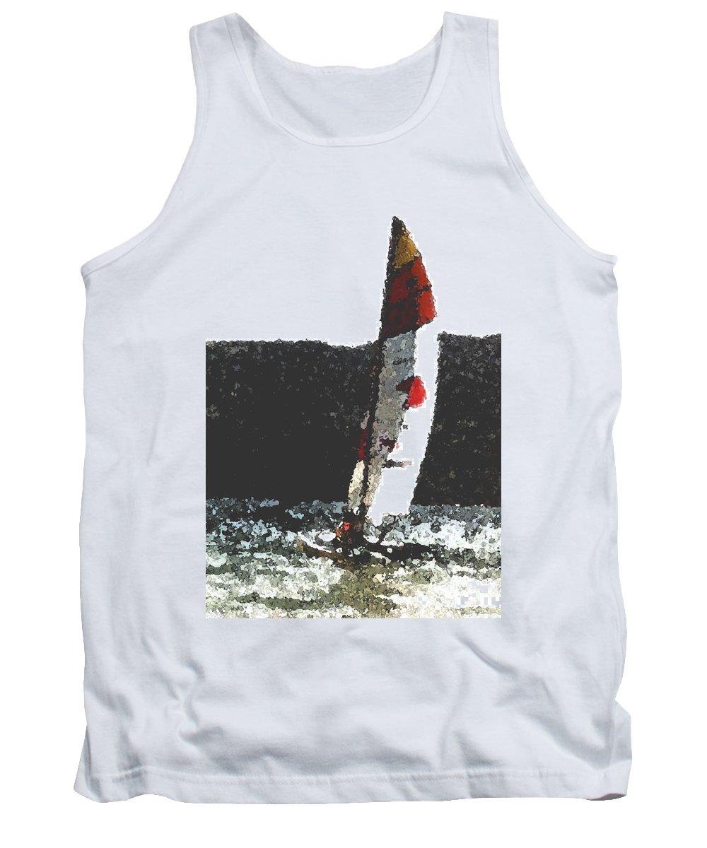 Sailing Tank Top featuring the photograph Sailing In Acapulca by Wayne Potrafka