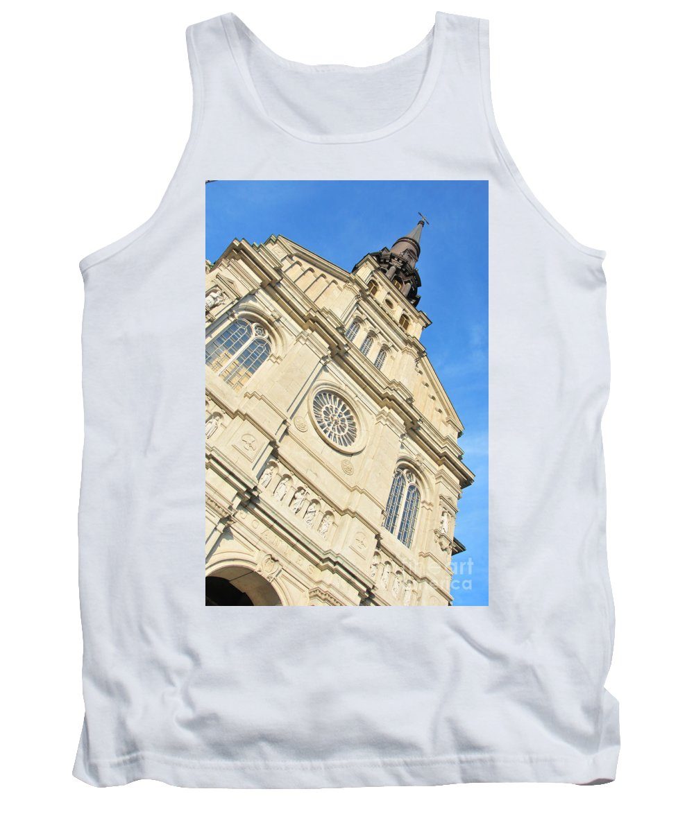 Baptiste Tank Top featuring the photograph Saint Jean Baptiste Church In Quebec City by Joe Ng