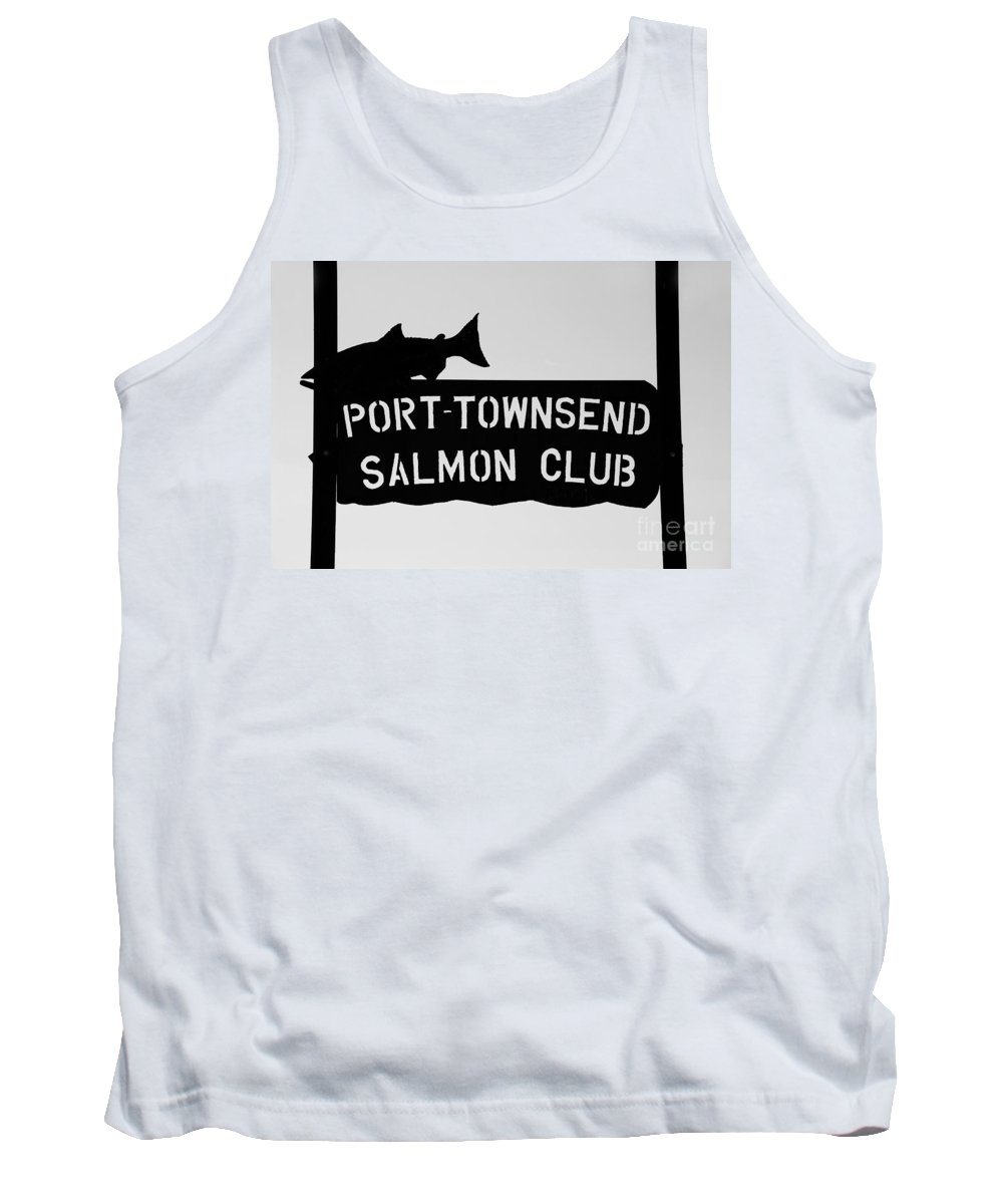 Port Townsend Salmon Club Tank Top featuring the photograph Salmon Club by David Lee Thompson