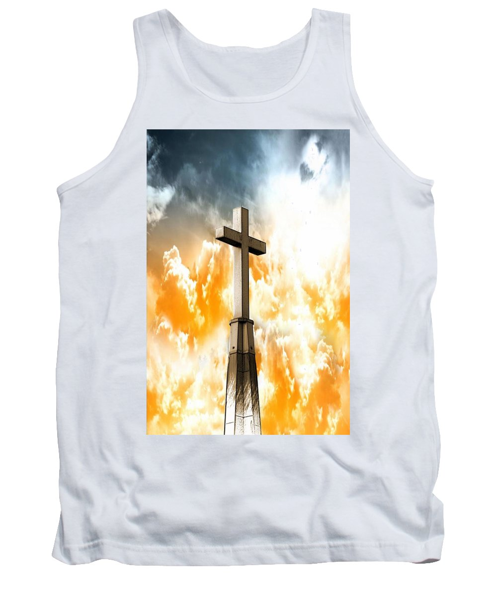 Cross Tank Top featuring the photograph Salvation by Aaron Berg