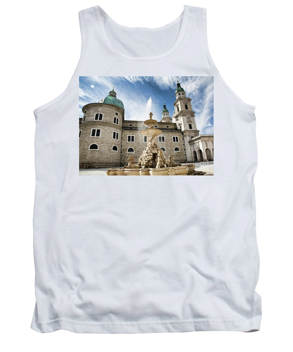 Salzburg Tank Top featuring the photograph Salzburg Cathedral by Scott Kemper
