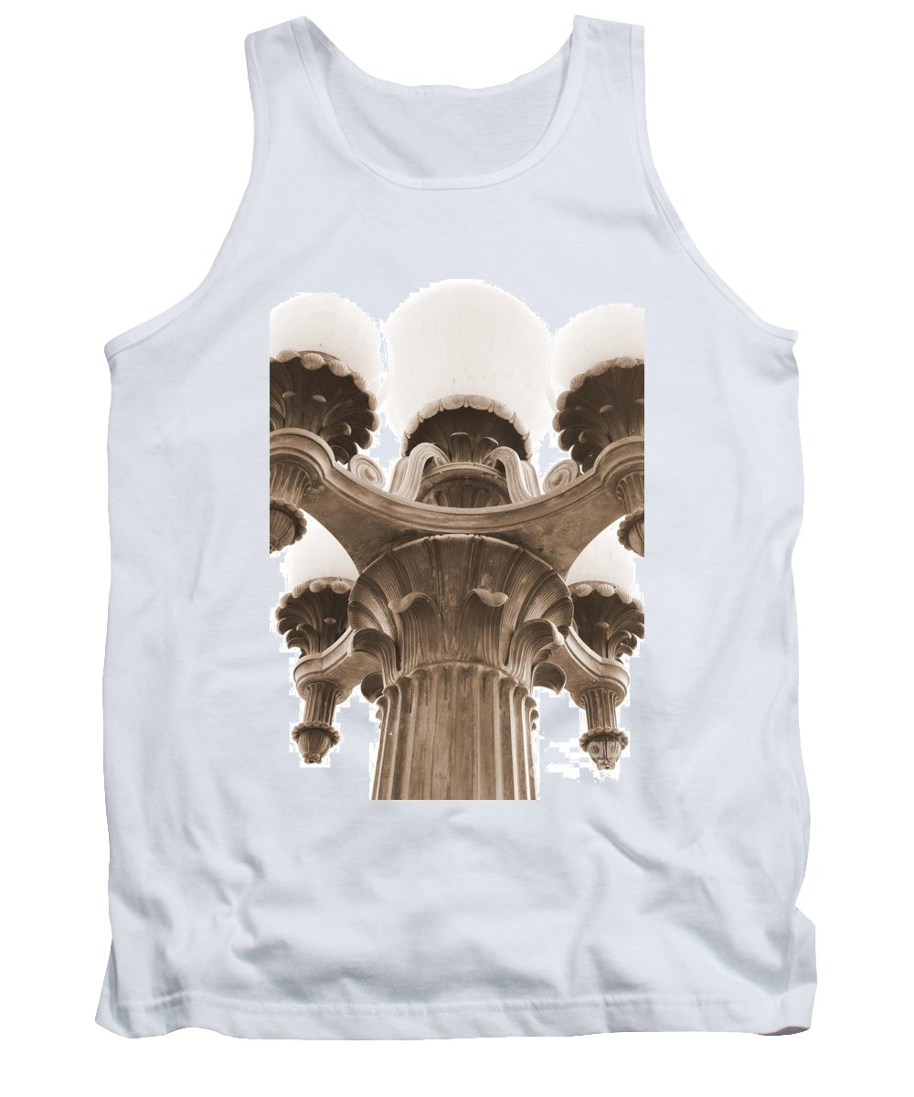 San Francisco Tank Top featuring the photograph San Francisco Street Lamp by Carol Groenen