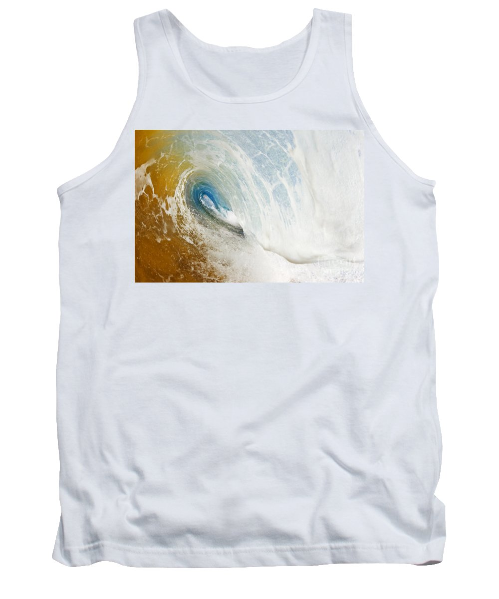 Amazing Tank Top featuring the photograph Sandy Wave Tube by MakenaStockMedia