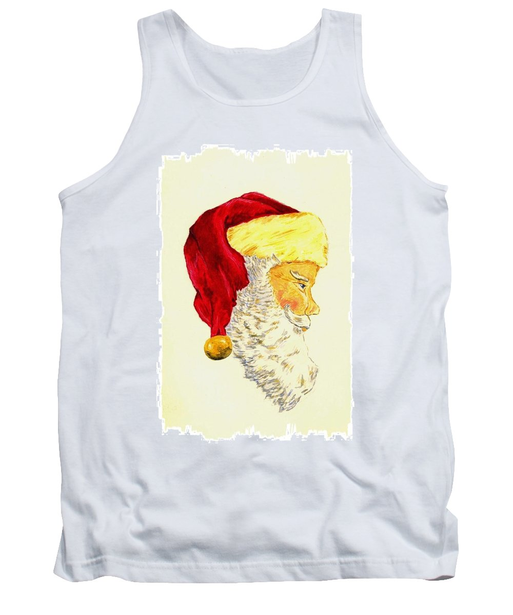 Christmas Tank Top featuring the painting Santa Claus by Michael Vigliotti