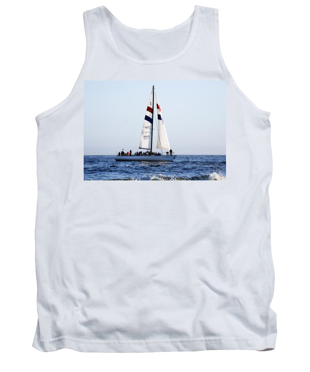 Santa Cruz Tank Top featuring the photograph Santa Cruz Sailing by Marilyn Hunt