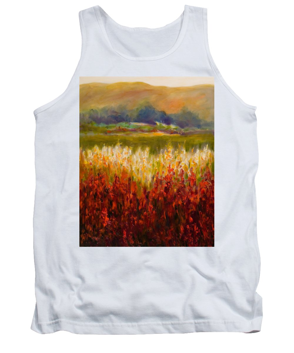 Landscape Tank Top featuring the painting Santa Rosa Valley by Shannon Grissom