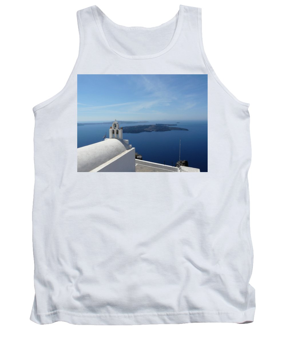 Landscape Tank Top featuring the photograph Santorini Greece by Valerie Ornstein