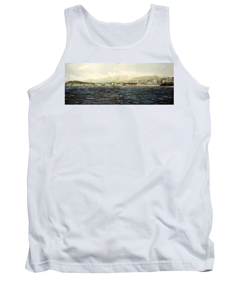 Sardinero Tank Top featuring the painting Sardinero y Magdalena by Tomas Castano