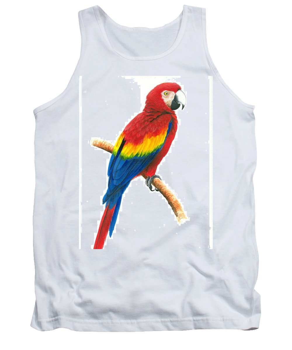 Chris Cox Tank Top featuring the painting Scarlet Macaw by Christopher Cox