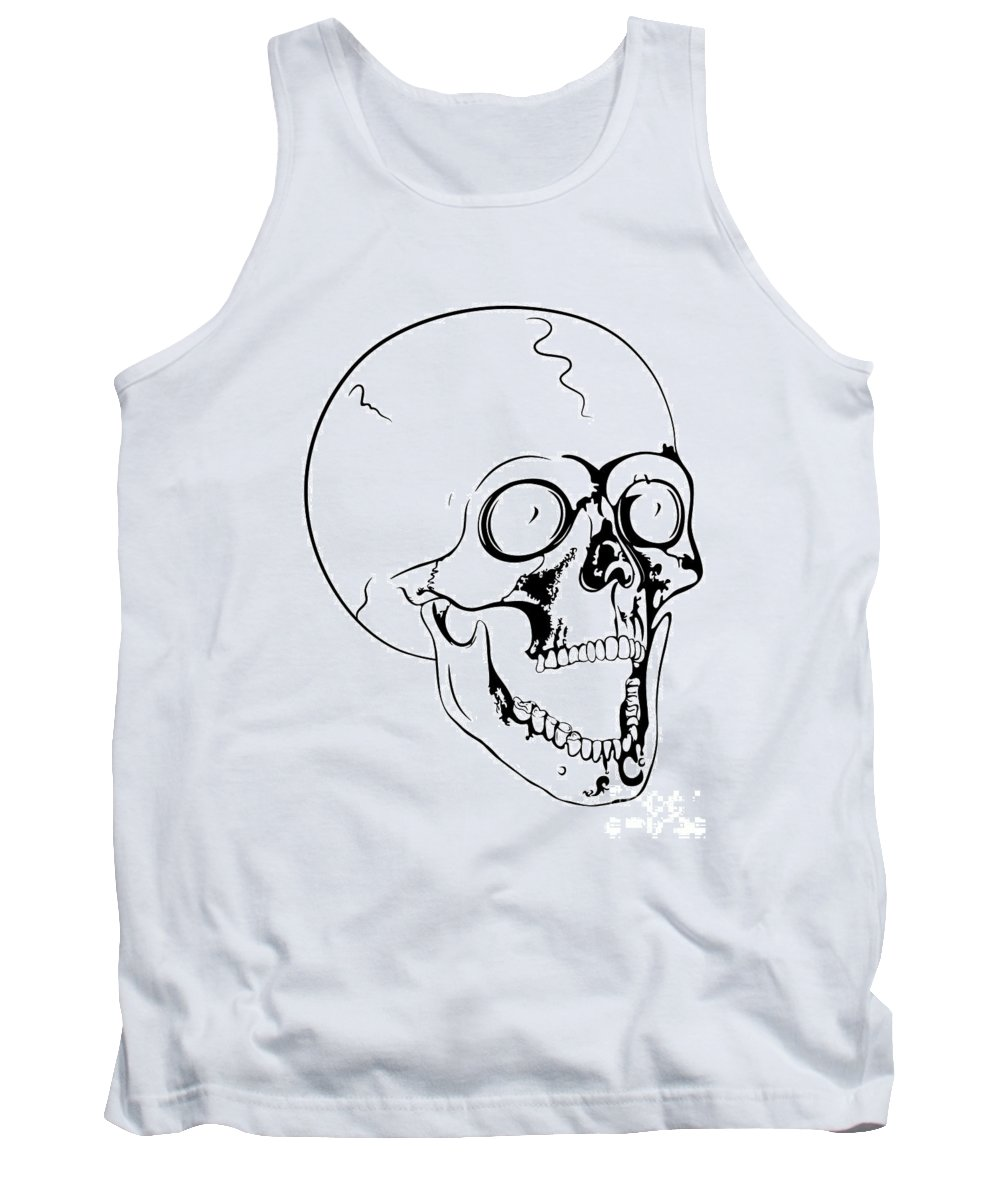 Skull Tank Top featuring the photograph Screaming Skull by Michal Boubin